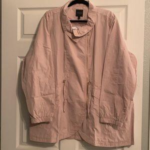 Light pink Lane Bryant Wind jacket NWT